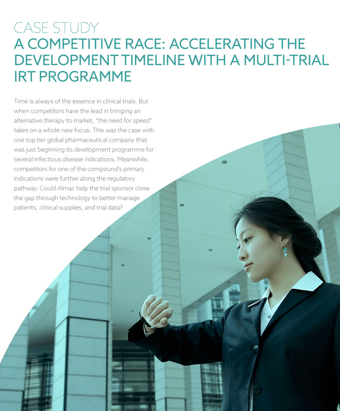 A Competitive Race: Accelerating the Development Timeline With A Multi-Trial IRT Programme