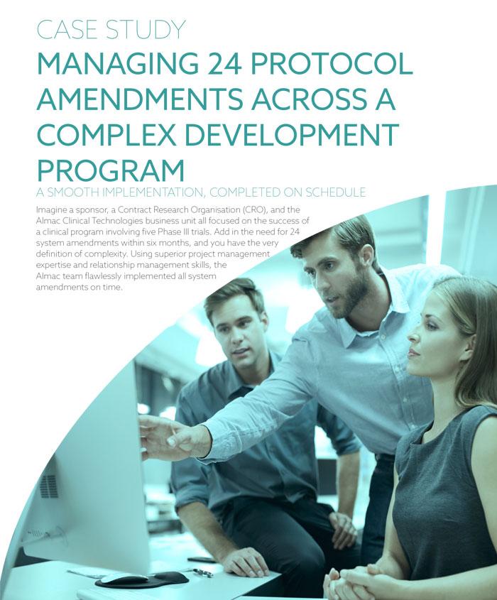 Managing 24 Protocol Amendments Across A Complex Development Program