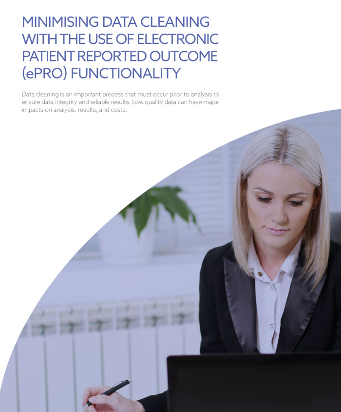 Minimizing Data Cleaning Electronic Patient Reported Outcome ePro