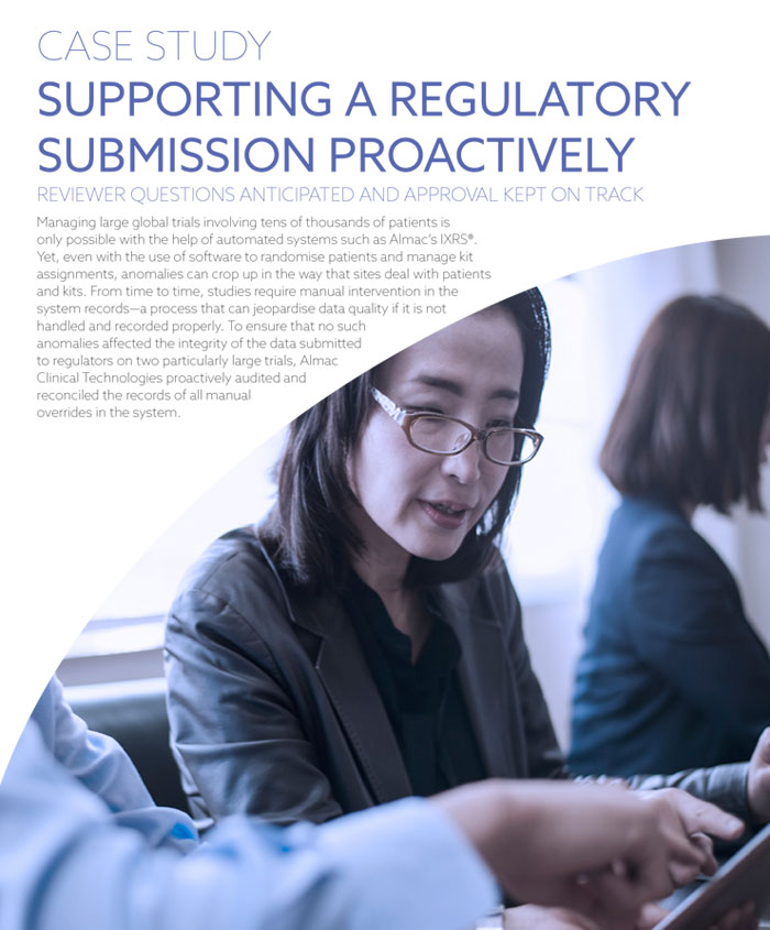 Supporting A Regulatory Submission Proactively