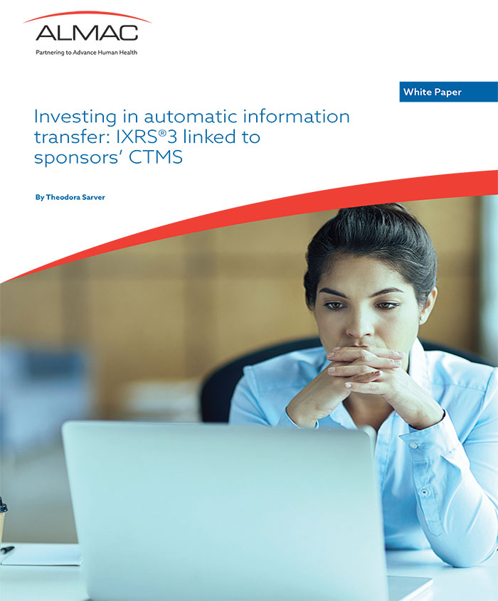 Investing In Automatic Information Transfer: IXRS® 3 Linked To Sponsors' CTMS