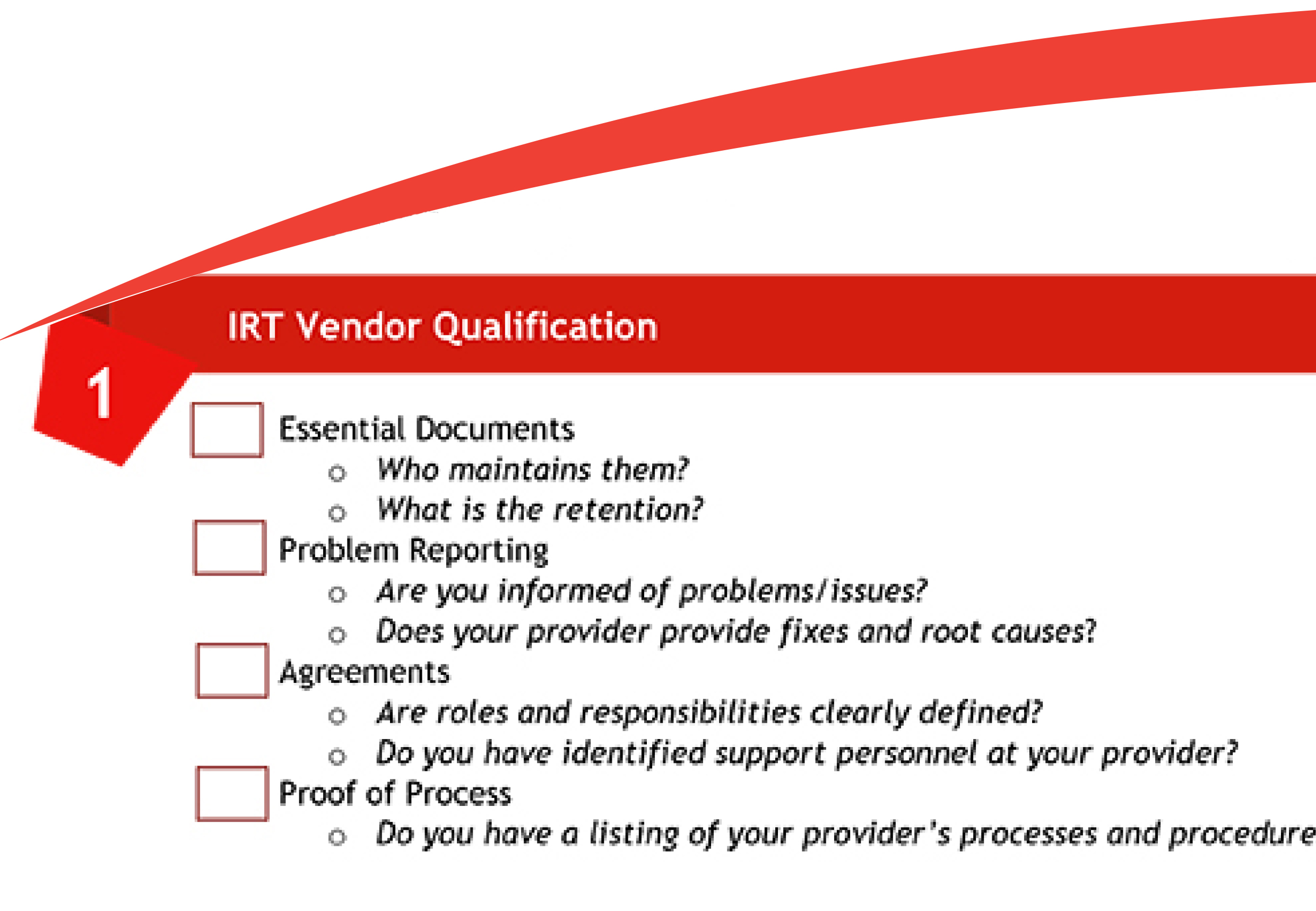 Checklist for Achieving Efficient and Effective Vendor Oversight